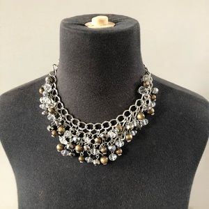 Statement choker style necklace beaded chain